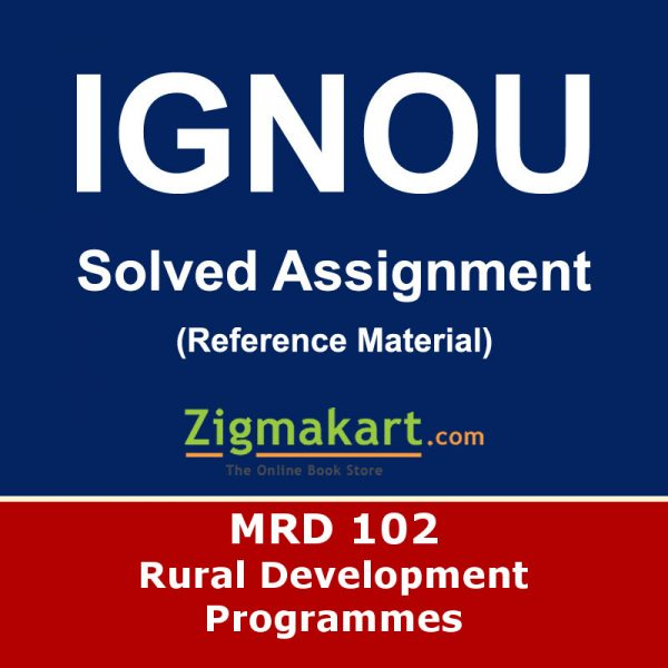 Ignou MRD-102 Solved Assignment