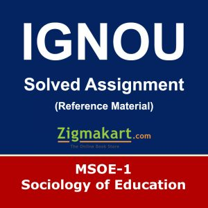Ignou MSOE-001 Solved Assignment