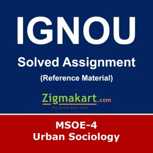 Ignou MSOE-004 Solved Assignment