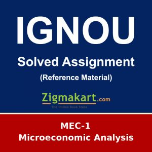 IGNOU MEC-1 M.A Economics Solved Assignment