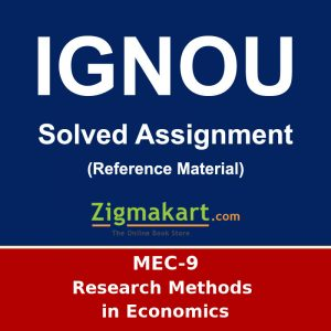 IGNOU MEC-9 M.A Economics Solved Assignment