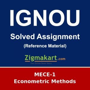 IGNOU MECE-1 M.A Economics Solved Assignment