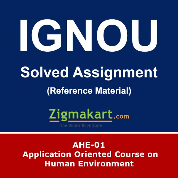 iGNOU AHE-01 Solved Assignment