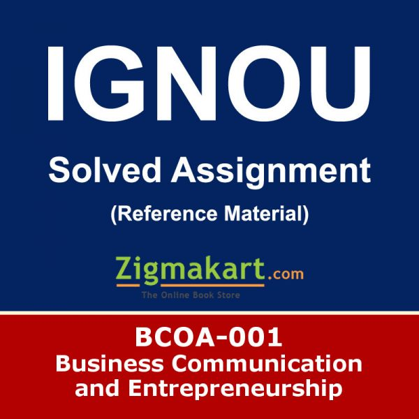 Ignou BCOA-01 Solved Assignment