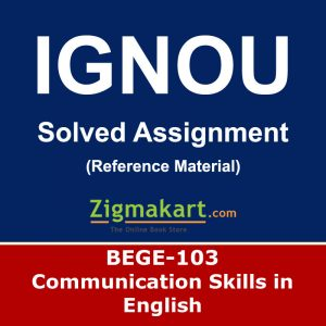 Ignou BEGE-103 Solved Assignment