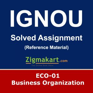 Ignou ECO-01 Solved Assignment