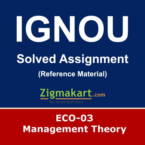 Ignou ECO-3 Solved Assignment
