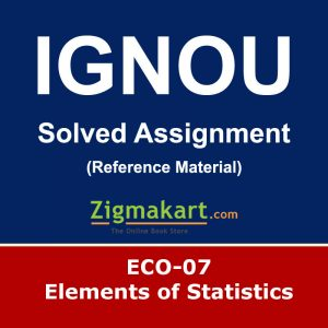 ignou ECO-07 Solved Assignment