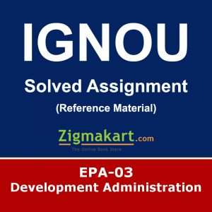 Ignou EPA-03 Solved Assignment