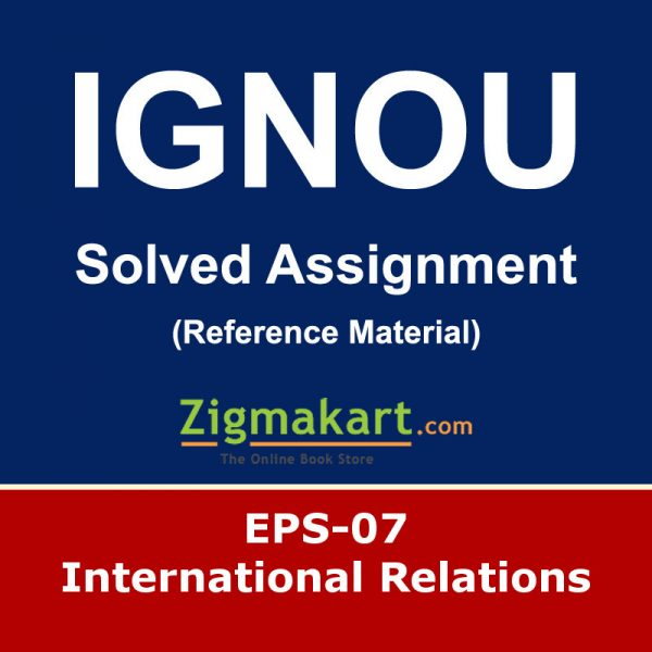 Ignou EPS-7 Solved Assignment