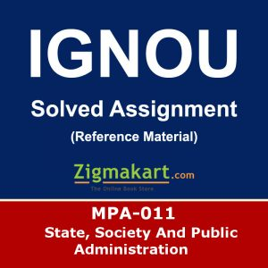 Ignou MPA-011 Solved Assignment