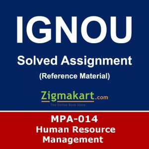 Ignou MPA-014 Solved Assignment