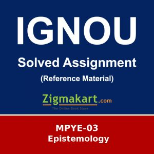 Ignou MPYE-03 Solved Assignment