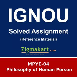Ignou MPYE-04 Solved Assignment