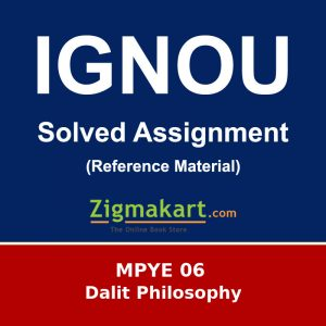Ignou MPYE-06 Solved Assignment