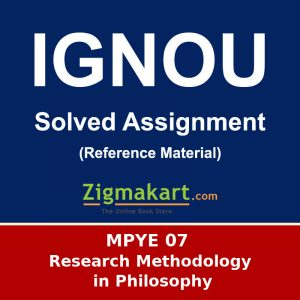 Ignou MPYE-07 Solved Assignment