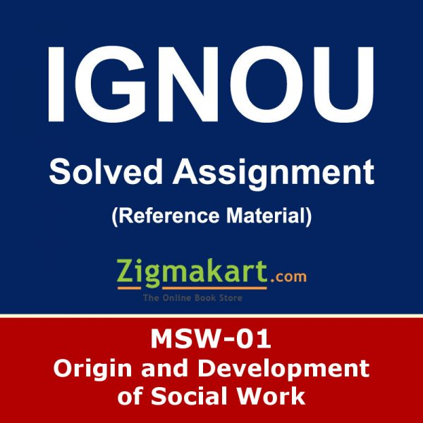 Ignou MSW-1 Solved Assignment