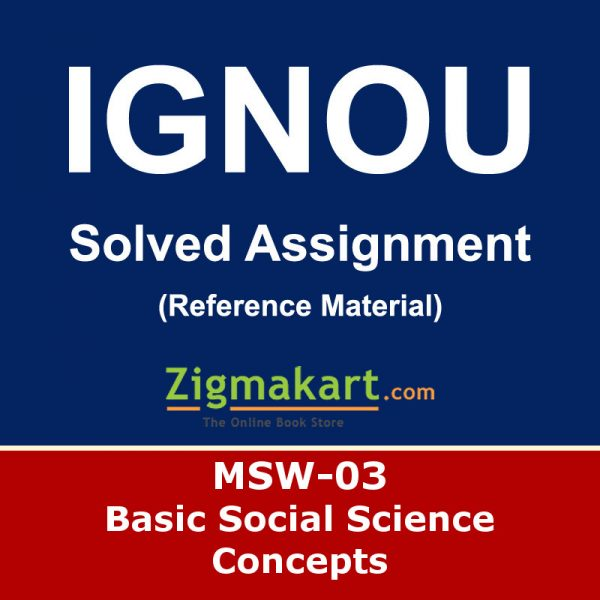 Ignou MSW-03 Solved Assignment