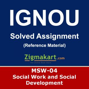 Ignou MSW-4 Solved Assignment