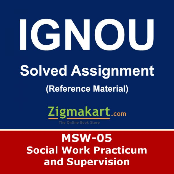 Ignou MSW-05 Solved Assignment