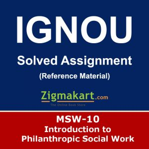 Ignou MSW-10 Solved Assignment