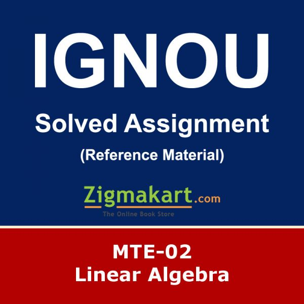 Ignou MTE-02 Solved Assignment