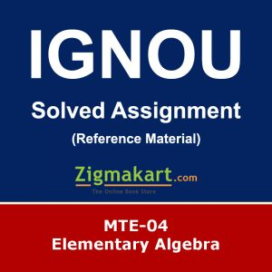 Ignou MTE-04 Solved Assignment