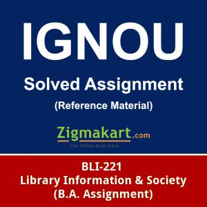 Ignou BLI-221 solved assignment
