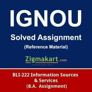 ignou bli-222 solved assignment