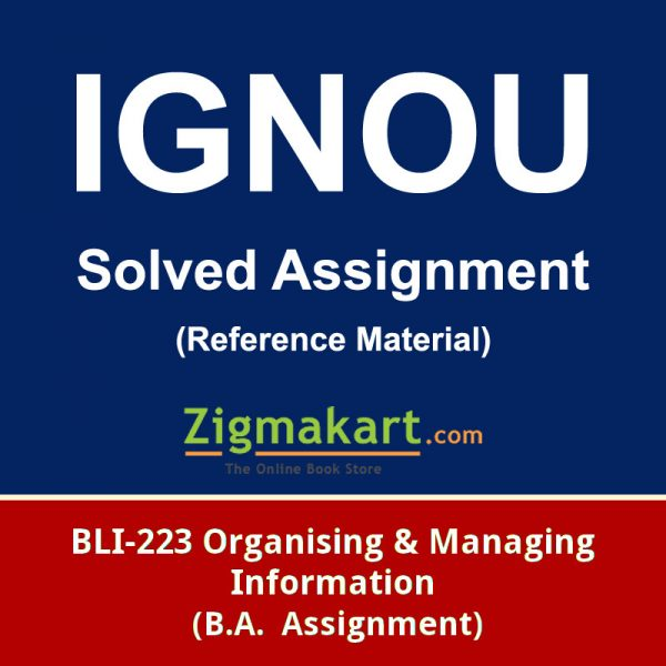 IGNOU BLI-223 SOLVED ASSIGNMENT