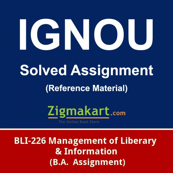 Ignou BLIE-226 solved assignment