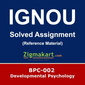 Ignou BPC-002 Solved Assignment