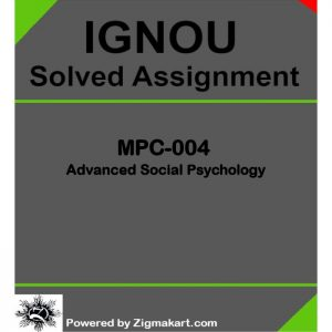 IGNOU MPC-004 Solved Assignment