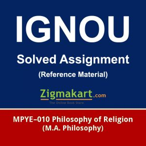 Ignou MPYE-010 Solved Assignment