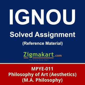 ignou MPYE-011 solved assignment