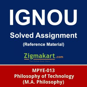 IGNOU MPYE-013 SOLVED ASSIGNMENT
