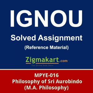 Ignou MPYE-016 Solved Assignment