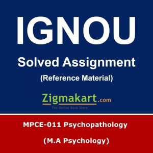 ignou mpce-011 solved assignment