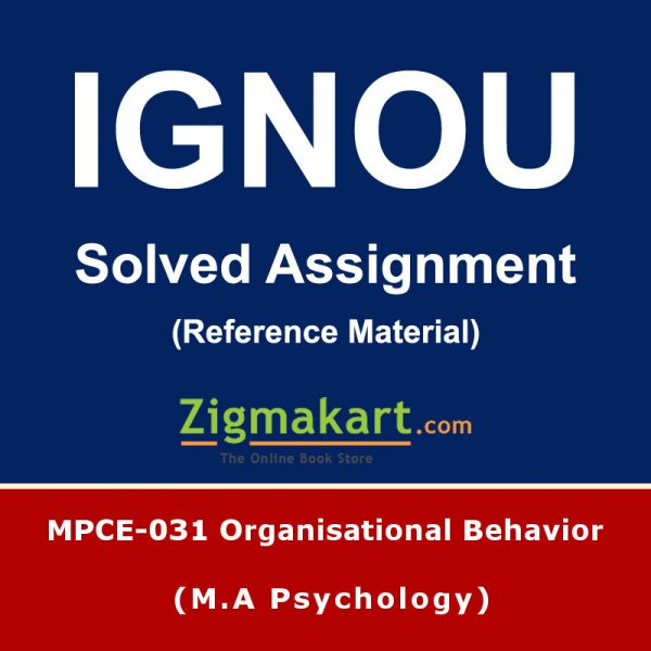 Ignou MPCE-031 Solved Assignment