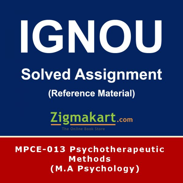 Ignou MPCE-013 Solved Assignment