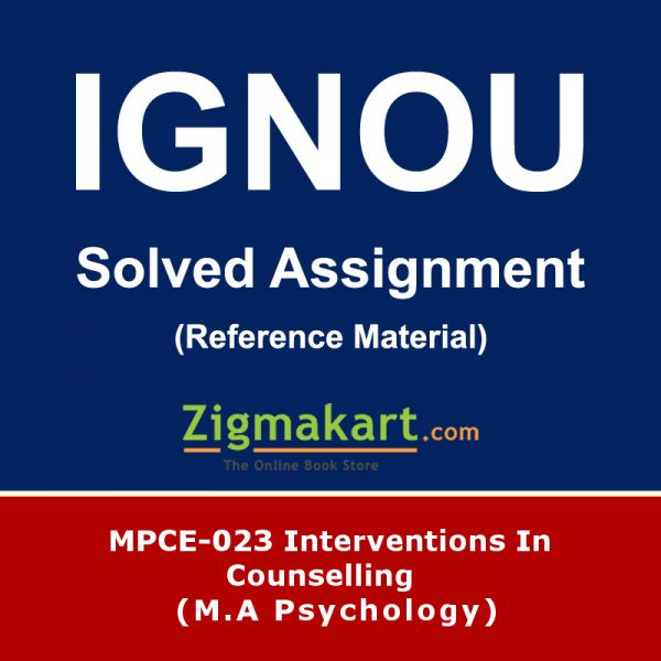 Ignou MPCE-023 Solved Assignment