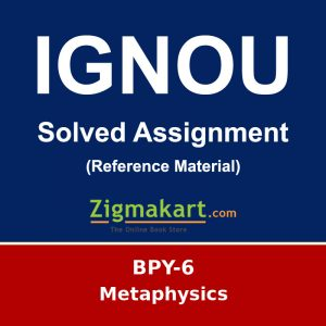 IGNOU BPY-6 B.A Philosophy Solved Assignment