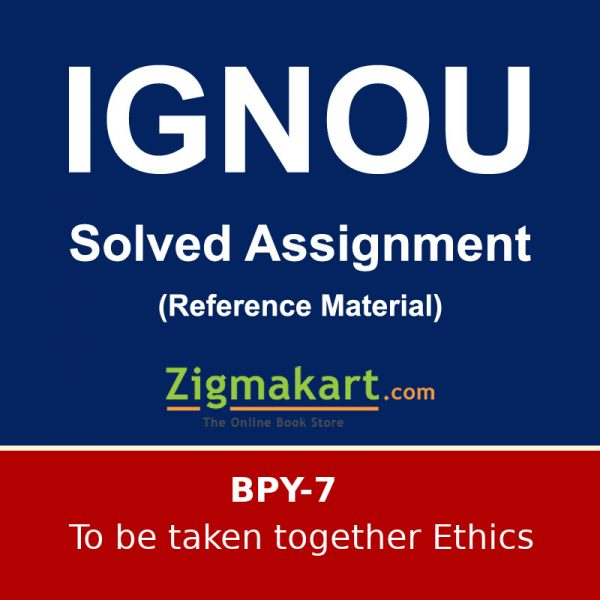 IGNOU BPY-7 B.A Philosophy Solved Assignment