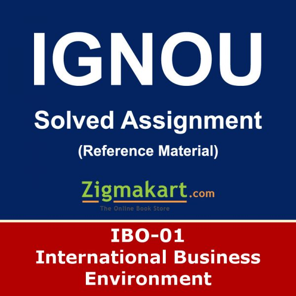 Ignou IBO-01 Solved Assignment
