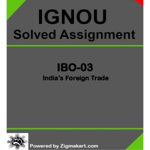 IGNOU IBO -02 Solved Assignment