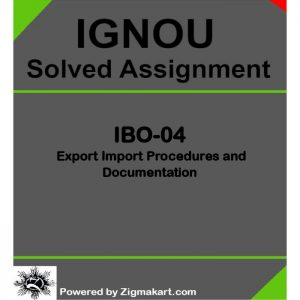 IGNOU IBO-04 Solved Assignment