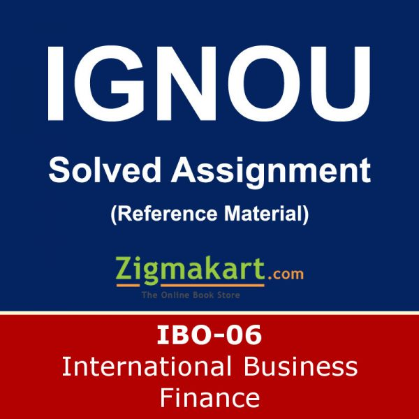 Ignou IBO-06 Solved Assignment