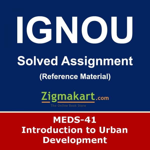 Ignou MEDS-41 Solved Assignment