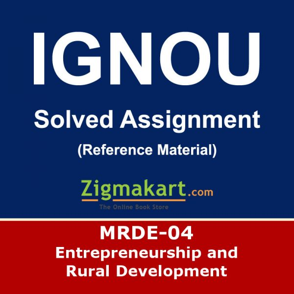 Ignou MRDE-004 Solved Assignment