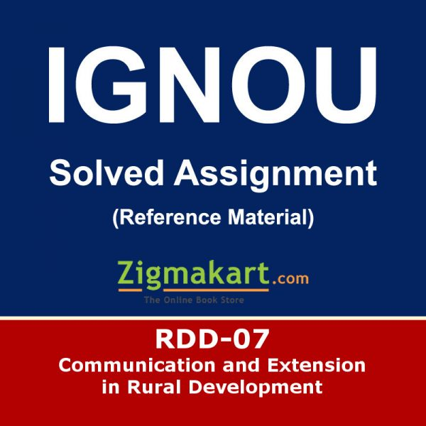 Ignou RDD-7 Solved Assignment